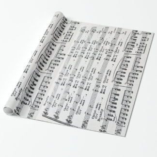 Christmas Sheet Music Merry Christmas Wrapping Paper
