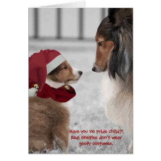 Christmas Shelties Card