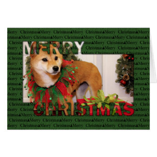 Christmas - Shiba Inu Photocard Card