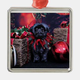 Christmas - Shih Tzu - Lily Metal Ornament