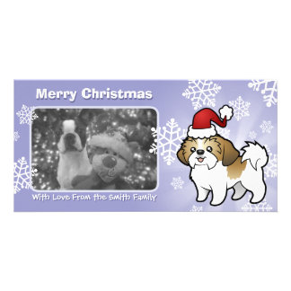 Christmas Shih Tzu (puppy cut) Photo Card