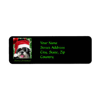 Christmas Shih Tzu  Return Address Labels