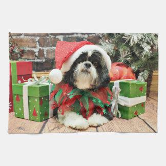 Christmas - Shih Tzu - Riley Towels