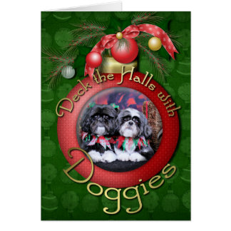 Christmas - Shih Tzu - Ruffles and Riley Card