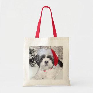 Christmas Shih Tzu Tote Bag
