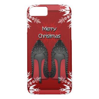 Christmas Shoes Stilettos fashion Snowflake Xmas iPhone 7 Case