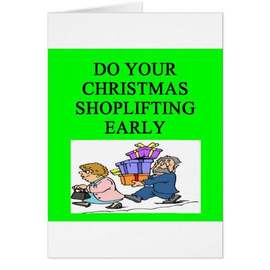 CHRISTMAS shoplifting joke Card