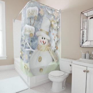 Christmas Shower Curtain/Snowman