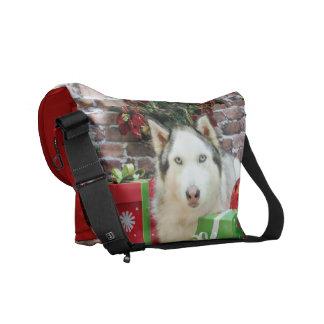 Christmas - Siberian Husky - Juliet Courier Bags