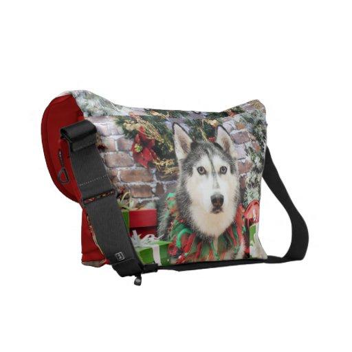Christmas - Siberian Husky - Nika Courier Bags