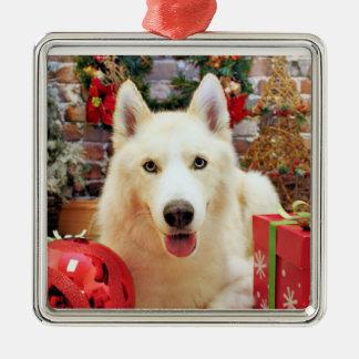 Christmas - Siberian Husky - Teagarden Portraits Metal Ornament