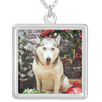 Christmas - Siberian Husky - Teagarden Portraits Pendant