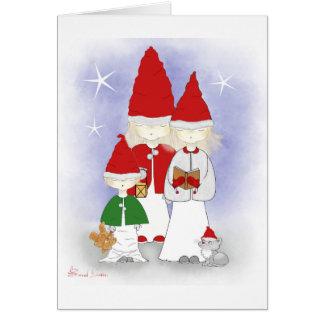 Christmas Siblings Singing Greeting Cards