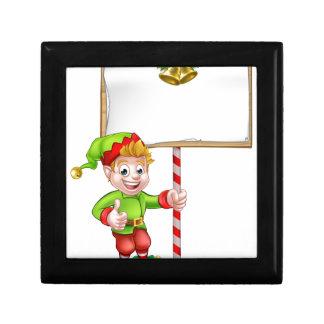 Christmas Sign Santa Helper Elf Keepsake Box