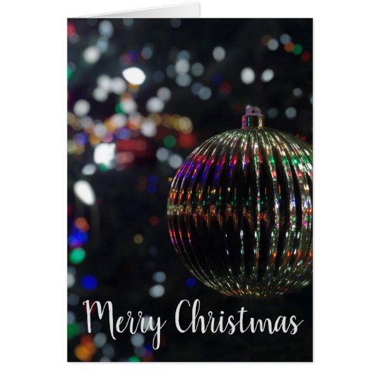 Christmas Silver Ornament Card