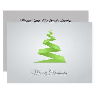 Christmas Simple Ribbon Christmas Tree Card