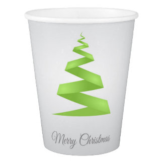 Christmas Simple Ribbon Christmas Tree Paper Cup