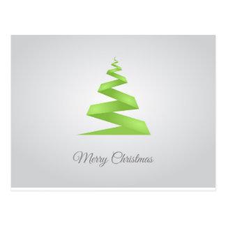 Christmas Simple Ribbon Christmas Tree Postcard