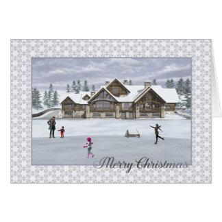 Christmas Skaters Greeting Card