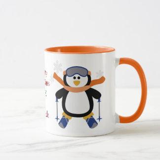Christmas Ski Penguin Mug