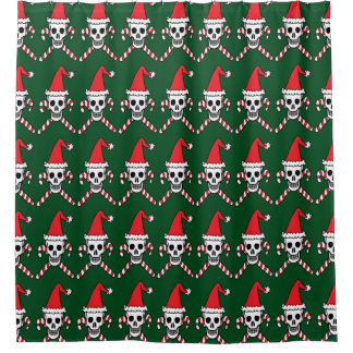 Christmas Skull and Candycane Crossbones