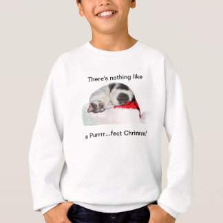 Christmas, Sleeping Cat, Santa Hat Sweatshirt