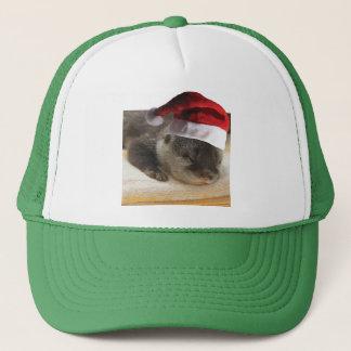 Christmas Sleepy Otter Trucker Hat