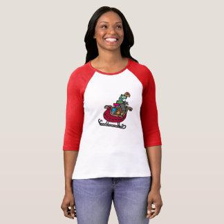 """""""Christmas Sleigh"""" — 3/4 Sleeve Raglan T-Shirt"""