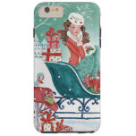 Christmas Sleigh Shopping Girl Iphone 6 plus case Tough iPhone 6 Plus Case