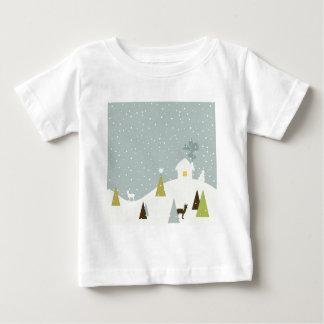 Christmas small house baby T-Shirt