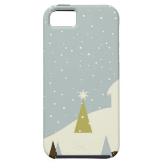 Christmas small house iPhone 5 cases