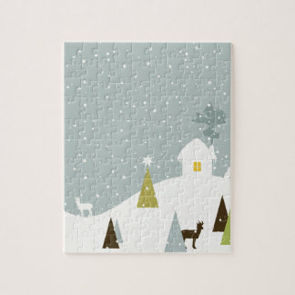 Christmas small house jigsaw puzzle