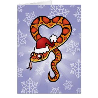 Christmas Snake Greeting Card