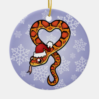 Christmas Snake Ceramic Ornament