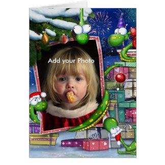 Christmas Snakes greeting Card