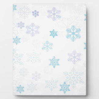christmas snow abstract plaque
