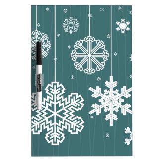 Christmas snow dry erase board