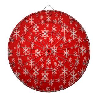 christmas snow flake pattern dartboard
