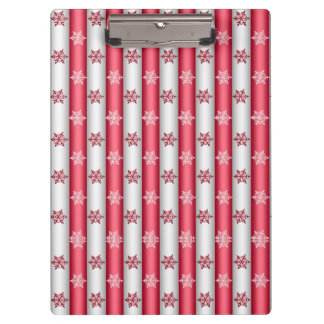 Christmas Snow Flakes Clipboard