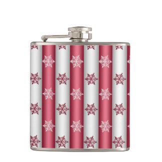 Christmas Snow Flakes Hip Flask