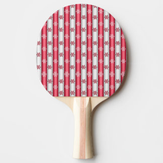 Christmas Snow Flakes Ping Pong Paddle