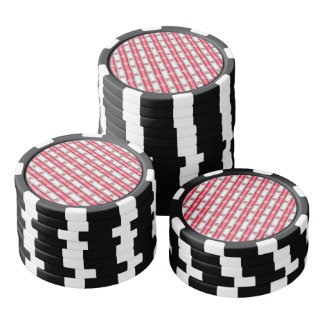 Christmas Snow Flakes Poker Chips