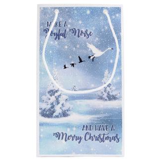 Christmas Snow Geese Make a Joyful Noise Small Small Gift Bag