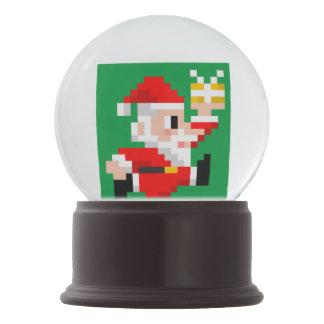 Christmas Snow Globe: 8-Bit Santa Claus (Green) Snow Globe