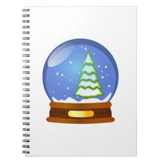 Christmas Snow Globe Notebook