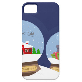 Christmas Snow Globes and Santa Claus Present iPhone 5 Cases