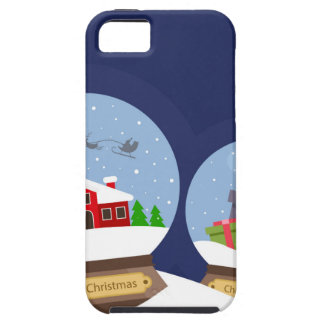 Christmas Snow Globes and Santa Claus Present iPhone 5 Covers