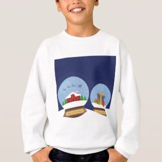 Christmas Snow Globes and Santa Claus Present Sweatshirt