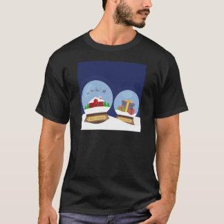 Christmas Snow Globes and Santa Claus Present T-Shirt