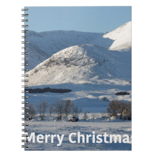 christmas snow in winter spiral notebook